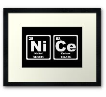 Nice - Periodic Table Framed Print