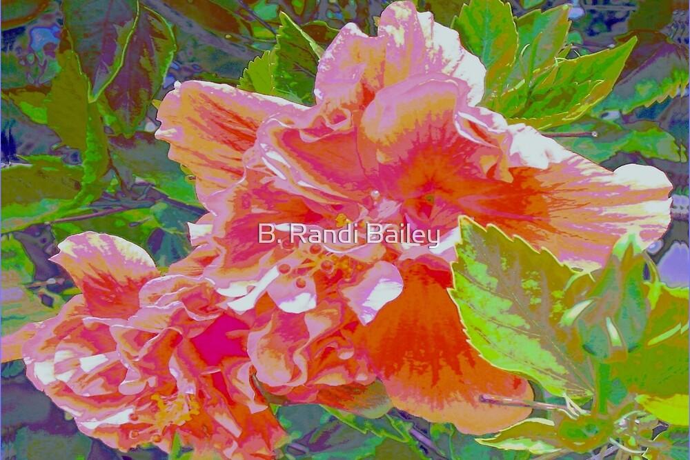 Newly trimmed hibiscus bush by ♥⊱ B. Randi Bailey