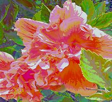 Newly trimmed hibiscus bush by ♥⊱ B. Randi Bailey