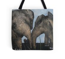 Wacky Birds on Baby Elephants Tote Bag