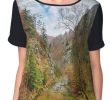 Canyon in mountains Chiffon Top