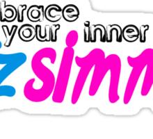 Fitz Simmons (black) Sticker