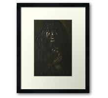 Mojave Mother and Child Framed Print