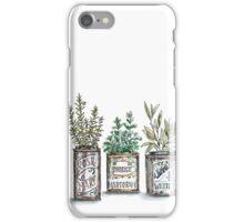 Herbs in Vintage Tins iPhone Case/Skin