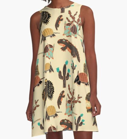 Desert Creatures A-Line Dress