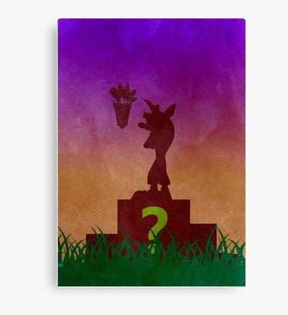 Crash Bandicoot Minimalist Art Canvas Print