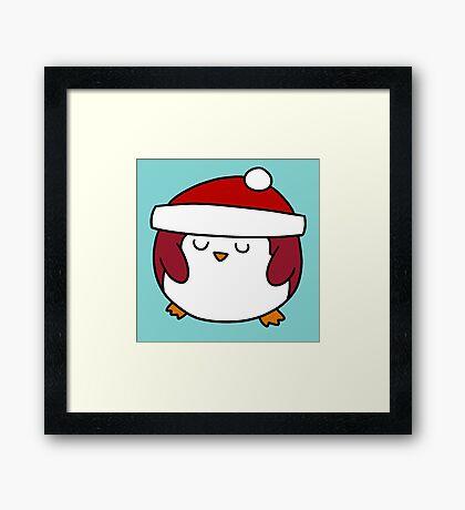 Fat Round Penguin Framed Print