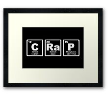 Crap - Periodic Table Framed Print