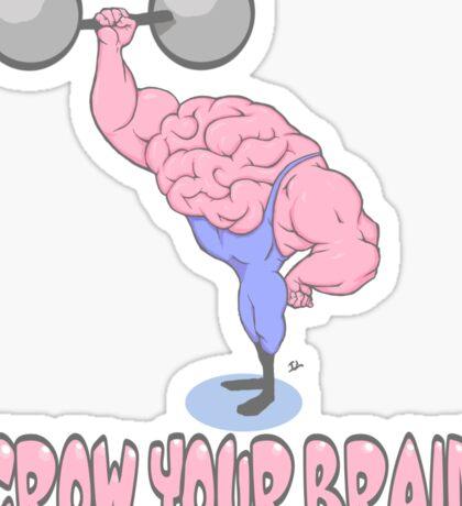 Grow Your Brain Sticker