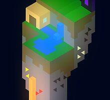 Minimalistic Minecraft Floating Island by Chris Chernewych
