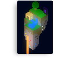 Minimalistic Minecraft Floating Island Canvas Print