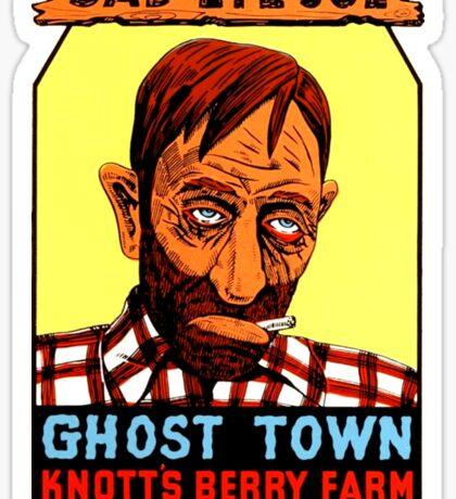 Sad Eye Joe Ghost Town California Vintage Travel Decal Sticker
