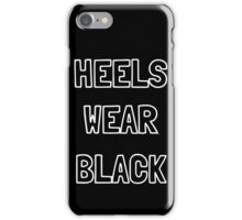 Heels Wear Black iPhone Case/Skin