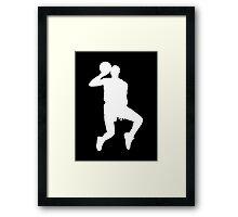 '88 Jordan in White Framed Print