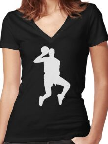 '88 Jordan in White Women's Fitted V-Neck T-Shirt