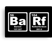Barf - Periodic Table Canvas Print