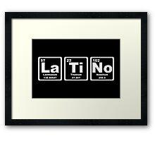 Latino - Periodic Table Framed Print