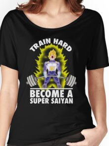 Train Hard, Become A Super Saiyan - Vegeta Deadlift Women's Relaxed Fit T-Shirt