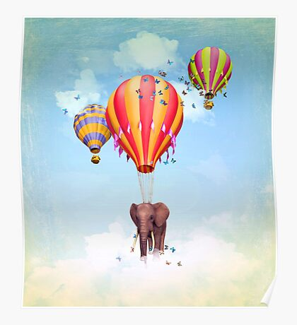 Elephant first fly  Poster