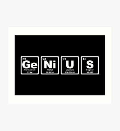 Genius - Periodic Table Art Print