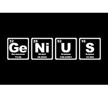 Genius - Periodic Table Photographic Print