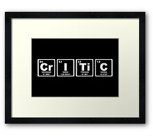 Critic - Periodic Table Framed Print