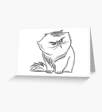 FatSnobCat#1 Greeting Card