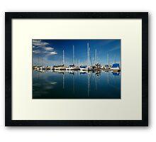 Calm Masts Framed Print