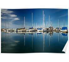 Calm Masts Poster