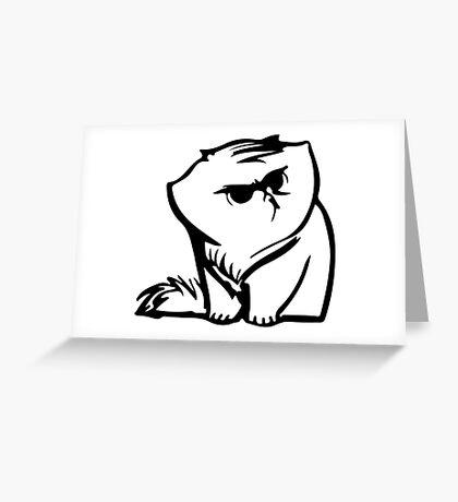 FatSnobCat#2 Greeting Card