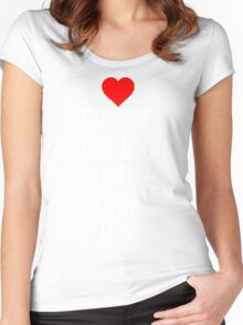 Keep Calm and Marry On Women's Fitted Scoop T-Shirt