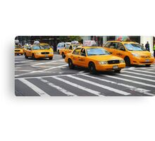 New York Taxis Canvas Print
