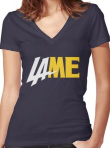 LAME Women's Fitted V-Neck T-Shirt