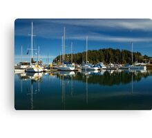 A Calm Day In Winchester Bay Canvas Print