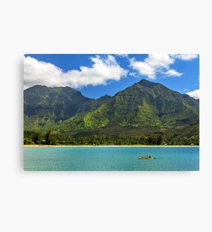Kayaks In Hanalei Bay Canvas Print