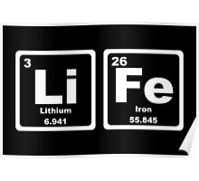 Life - Periodic Table Poster