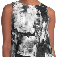 Gray Abstract Composition Contrast Tank