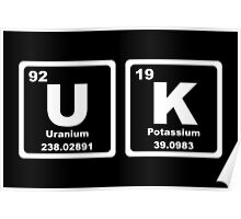 UK - Periodic Table Poster