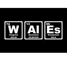 Wales - Periodic Table Photographic Print