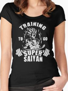 Training To Go Super Saiyan - Teen Gohan Women's Fitted Scoop T-Shirt