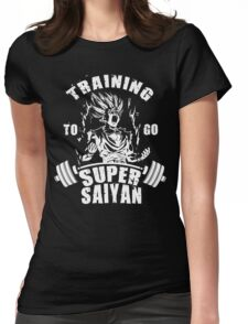 Training To Go Super Saiyan - Teen Gohan Womens Fitted T-Shirt
