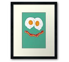 Smiling Baconegg Framed Print