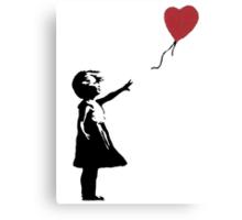 Banksy Red Balloon Canvas Print