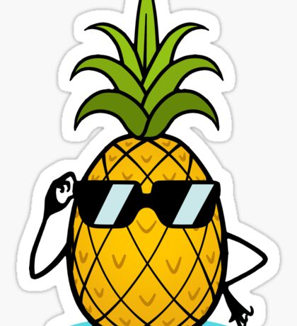 Ananas Cool Sticker