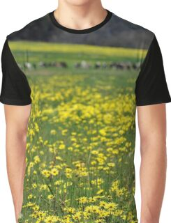 Field of yellow flowers Graphic T-Shirt