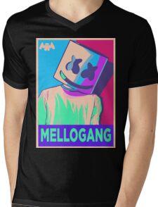 Marshmello Mellogang Neon Mens V-Neck T-Shirt