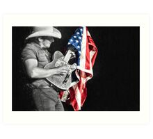 Brad Paisley in Concert Art Print