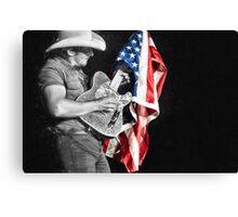 Brad Paisley in Concert Canvas Print