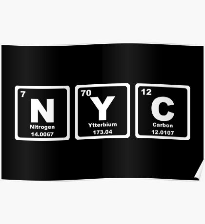 NYC - Periodic Table Poster