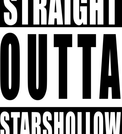 Straight Outta Stars Hollow Sticker